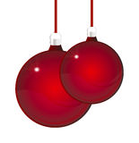 Glossy red christmas ball Royalty Free Stock Image