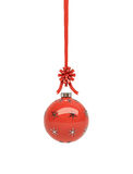 Glossy red Christmas hanging Stock Image