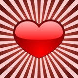 Glossy red heart Royalty Free Stock Photos
