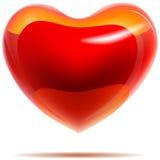 Glossy red heart Royalty Free Stock Photos