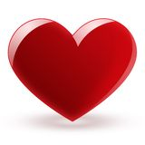 Glossy red heart Royalty Free Stock Image