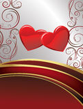 Glossy Red heart background vector Royalty Free Stock Photo