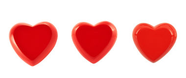 Glossy red heart isolated Stock Images