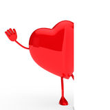Glossy red heart wave Stock Image