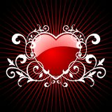 Glossy red hearth Royalty Free Stock Photography
