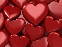 Glossy red hearts. Heart candies Vector Illustration