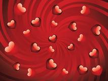Glossy red hearts Royalty Free Stock Images