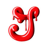 Glossy red letter G uppercase. 3D rendering Royalty Free Stock Photography