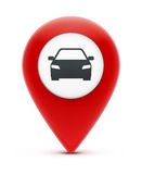 Glossy red map location pointer Royalty Free Stock Photography