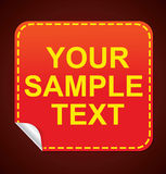 Glossy red sticker Stock Photos