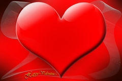 Glossy red Valentine heart Royalty Free Stock Image