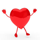 Glossy red valentine heart wave Royalty Free Stock Image