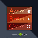Glossy ribbon option buttons banners design Royalty Free Stock Image