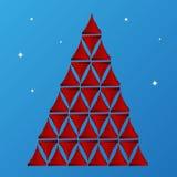 Glossy ribbon texture christmas tree Royalty Free Stock Photos