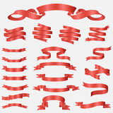 Glossy ribbon vector banners set Royalty Free Stock Image