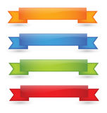 Glossy Ribbons. Isolated clean illustration Stock Photos