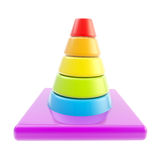 Glossy road cone colored in rainbow gradient0 isolated royalty free illustration