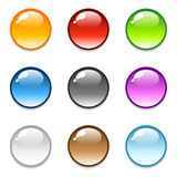 Glossy Round Button Icons Royalty Free Stock Photos