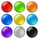 Glossy round buttons for icons Royalty Free Stock Image
