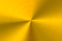 Glossy round polished golden metal horizontal background Royalty Free Stock Photography