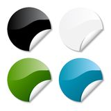 Glossy round stickers Royalty Free Stock Photos