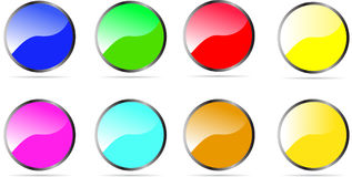 Glossy Rounded Button Stock Photography