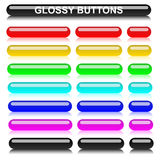 Glossy rounded elongated varicolored buttons Royalty Free Stock Image