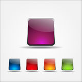 Glossy Rounded Rectangular Buttons Royalty Free Stock Photo