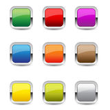 Glossy Rounded Rectangular Buttons Royalty Free Stock Photos