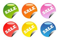 Glossy sale buttons Royalty Free Stock Image