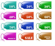 Glossy Sale Discount Label Royalty Free Stock Image