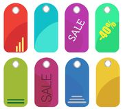 Glossy sale tag stickers Royalty Free Stock Image