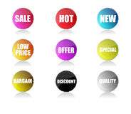 Glossy sale tags Stock Photography