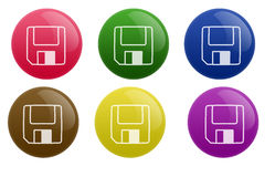 Glossy Save Button Royalty Free Stock Photography