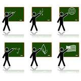 Glossy school icons Stock Images