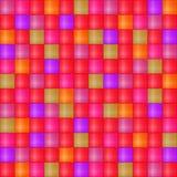 Glossy Seamless Mosaic Cell Pattern Stock Photo