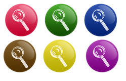 Glossy Search Button Royalty Free Stock Photo
