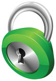Glossy security padlock  illustration Stock Photos