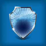 Glossy security shield Stock Images