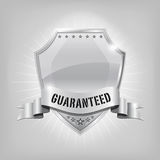 Glossy security silver shield - GUARANTEED Stock Photos