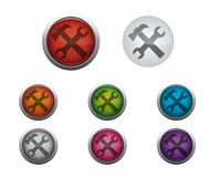 Glossy Settings Button royalty free stock photos