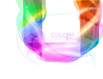 Glossy shape colors scene vector. Glossy shape colors vector abstract on a white background stock illustration