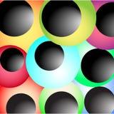 Glossy shapes background Stock Image