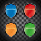 Glossy shield emblems Stock Image