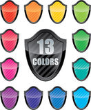 Glossy shield emblems Royalty Free Stock Photography