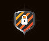 Glossy shield icon Stock Image