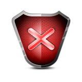 Glossy shield negative symbol Stock Photography