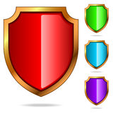 Glossy shields Royalty Free Stock Images