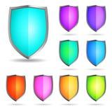 Glossy shields Royalty Free Stock Photo