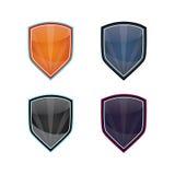 Glossy Shields stock image